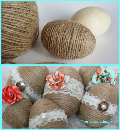 как сделать пасхальное яйцо своими руками из подручных материалов