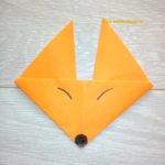 Лисичка оригами для детей