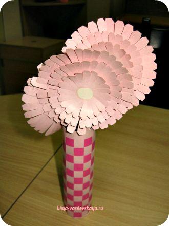 Как сделать цветок подсолнуха из бумаги своими руками фото 971