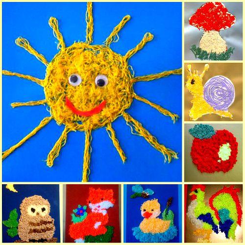 Картинки поделки из ниток для детей